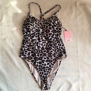 Juicy Couture Leopard Print Bathing Suit Sz: L